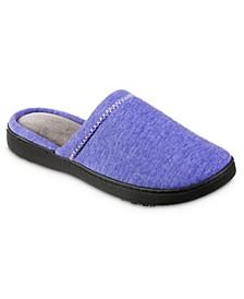 Isotoner Women's Heathered Jersey Jillian Clog Slipper