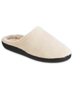 Isotoner Women's Microterry Secret Sole Clog Slipper