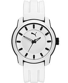 Men's Puma 2 Three-Hand, Black-Tone Polycarbonate Watch, P6017