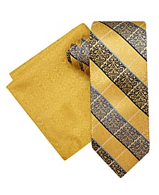 Men's Persian Tie and Pocket Square Set