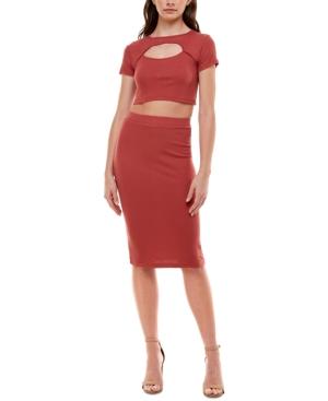 Juniors' Lace-Up-Back 2-Pc. Dress