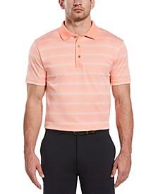 Men's Big & Tall Gradient Stripe Polo Shirt