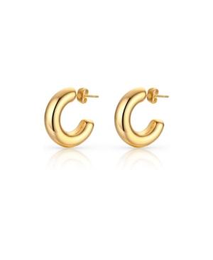 Small Chunky Anti-Tarnish Hoop Earrings