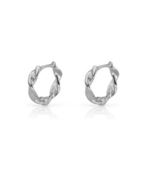 Twist Huggie Hoop Earrings