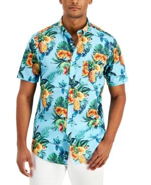 Men's Regular-Fit Tropical Fruit-Print Shirt