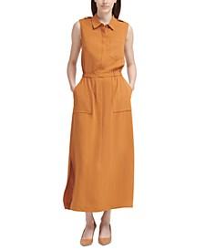Aerowash Covered-Placket Maxi Dress