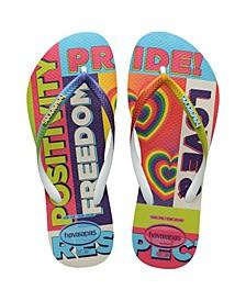 Women's Slim Pride Rainbow Flip Flop Sandals