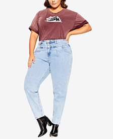 Trendy Plus Size Cool Buttons Jeans
