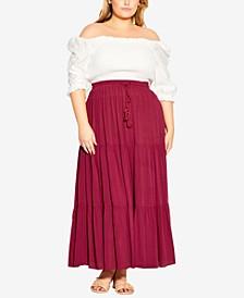 Trendy Plus Size Paradise Skirt