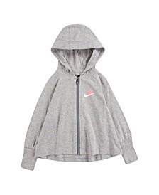 Toddler Girls Jersey Essentials Full Zip Sweatshirt