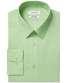 Men's Infinite Color Slim-Fit Non-Iron Performance Stretch Cooling Geo Dress Shirt