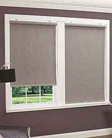 Home Basics Cordless Linen Look Thermal Fabric Roller Shades