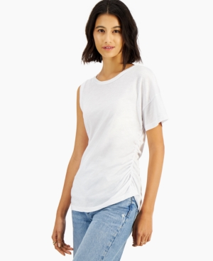 One-Sleeve Cotton T-Shirt