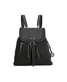 Women's Avalon Crochet Backpack