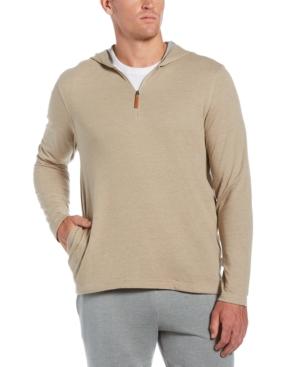 Men's Heathered 1/4-Zip Hooded Sweater