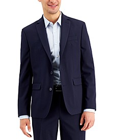 Men's Slim-Fit Navy Solid Suit Jacket, Created for Macy's
