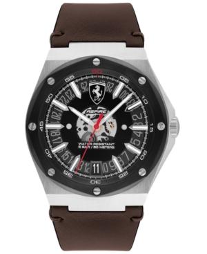 Men's Aspire Brown Leather Strap Watch 42mm