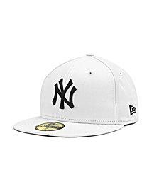 New Era New York Yankees MLB White And Black 59FIFTY Cap