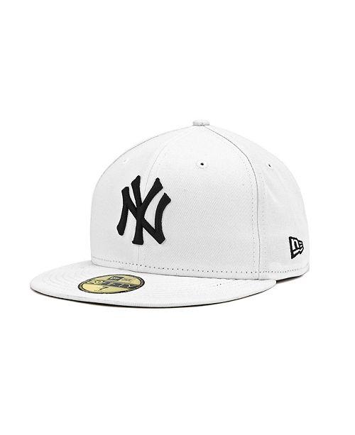 ff88331b6bc12 ... New Era New York Yankees MLB White And Black 59FIFTY Cap ...