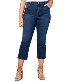 Plus Trendy Cropped Raw-Hem Jeans