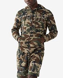 Men's Camo Print Zip Up Hoody