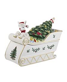 Christmas Tree Rudolph Cookie Jar