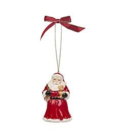 Christmas Tree Santa Bell Ornament