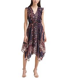 Petite Paisley-Print Dress