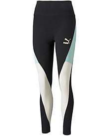 Women's High-Rise Colorblocked Full-Length Leggings
