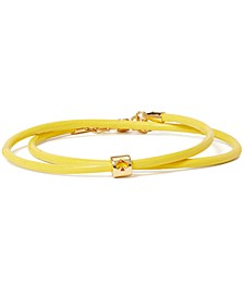 Gold-Tone Colored Leather Cord Wrap Bracelet