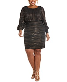 Plus Size Metallic Dress