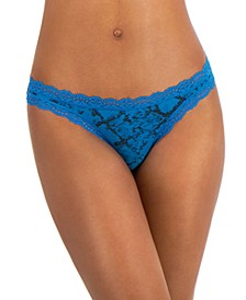 Women's Lace-Trim Thong, Created for Macy's