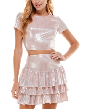 Juniors' Metallic 2-Pc. Dress
