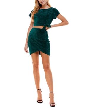 Juniors' Tie-Waist 2-Pc. Dress