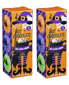 Halloween Hot Chocolate Cocoa Bombs with Marshmallows, Set of 2
