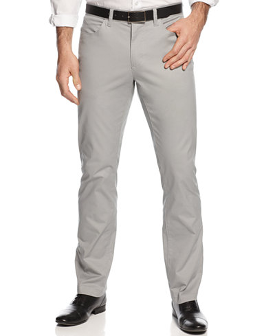 Alfani Slim-fit Cotton Stretch Pants, Created for Macy's