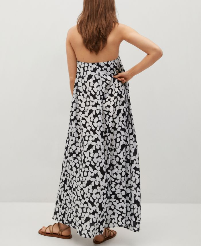 MANGO Printed Halter Gown & Reviews - Women - Macy's