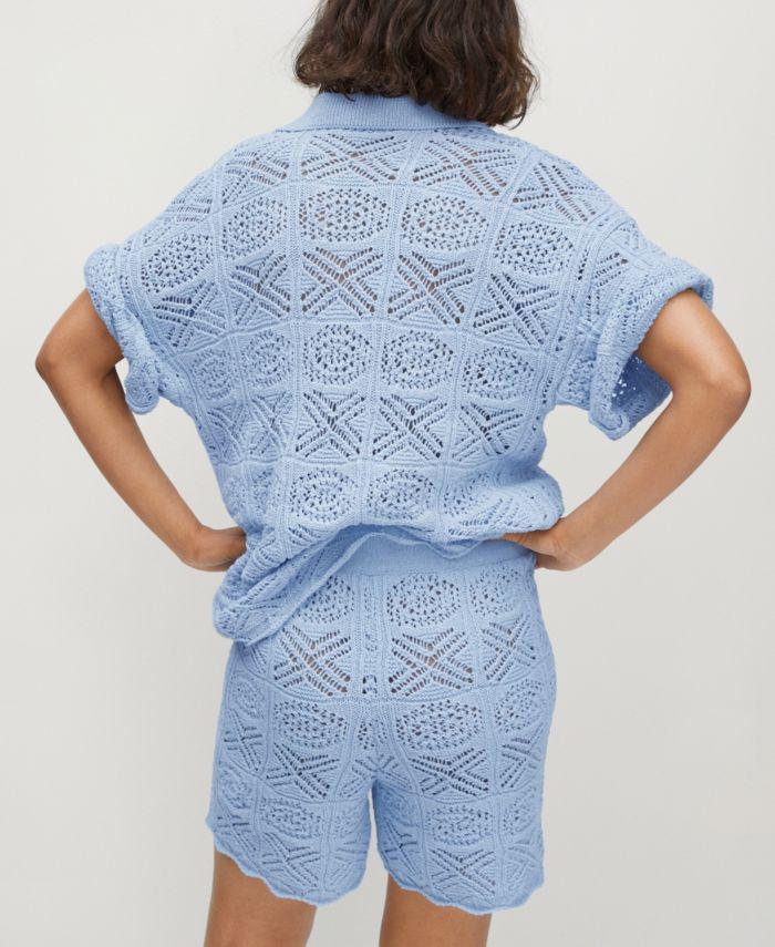 MANGO Oversize Crochet Sweater & Reviews - Women - Macy's
