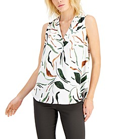 Printed Satin V-Neck Tank Top, Created for Macy's