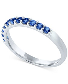 Lab-Created Blue Diamond Stack Ring (1/2 ct. t.w.) in Sterling Silver (Also in Red, Yellow, Pink, & Green Lab-Created Diamond)
