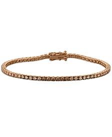 Chocolate Ombré Diamond Tennis Bracelet (3 ct. t.w.) in 14k Rose Gold