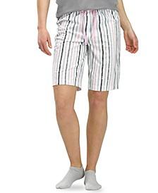 Striped Classic Pajama Bermuda Pants