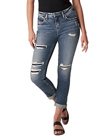 Beau Ripped Slim-Leg Jeans