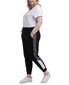 Plus Size Colorblocked Jogging Pants