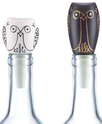 Woodland Park Set of 2 Owl Bottle Stoppers