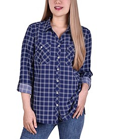 Women's 3/4 Roll Tab Shirt with Pockets