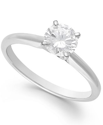 Macy S Diamond Engagement Ring In 14k White Gold Yellow Gold Or