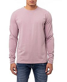 Men's Soft Stretch Crew Neck Long Sleeve T-shirt