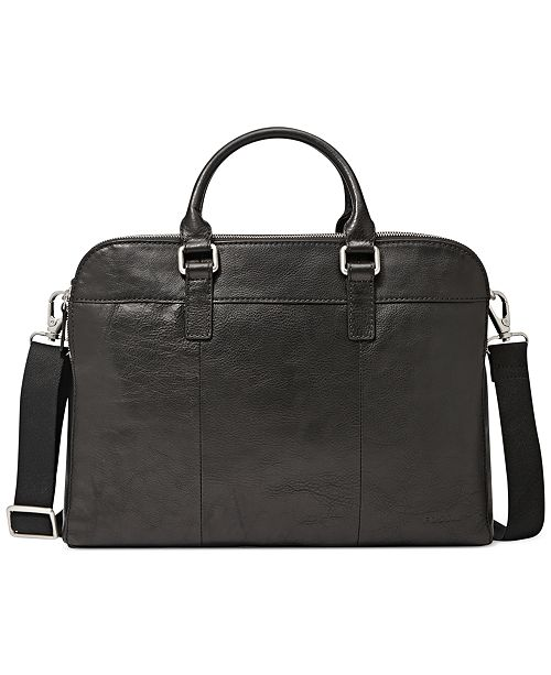 Fossil Mercer Leather Work Bag