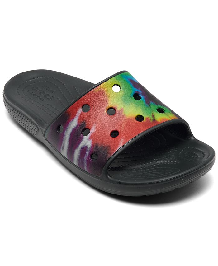 Crocs Tie-Dye Graphic Classic Slide Sandals from Finish Line